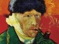 Ван-Гог, «Автопортрет с трубкой», х.м.