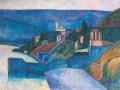 Дом на берегу моря. 1912 г. Холст. Масло. Государственная Третьяковская галерея