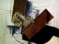Джорж Брак, «Натюрморт на столе», 1913, х.м., коллаж