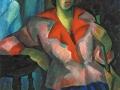 «Портрет женщины в розовом». 1914. х.м.