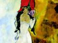 «Двойной портрет с бокалом вина», 1917-1918, х.м