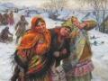 Федот Сычков. Праздничный день. Подруги. 1941. Х., м.