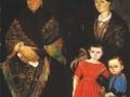 Неизвестный художник середины XIX века. Портрет купеческой семьи. (Фрагмент)