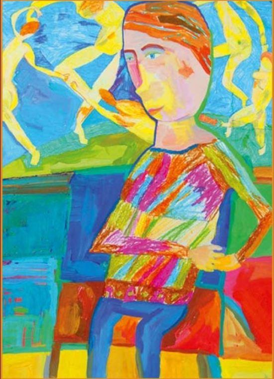 Под впечатлением от Матисса. Бум., гуашь. Алиса Светкина, 9 лет, г. Саратов