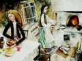 «В ГОСТЯХ У БАБУЛИ», гуашь Елена Русакевич, 13 лет, Беларусь, г. Ляховичи