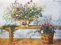 Петр Кончаловский. Цветы на скамейке