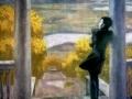 Виктор Попков. Осенние дожди (Пушкин). 1974. Х., м.