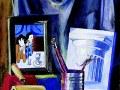 """Мария Пономарчук, 16 лет """"Натюрморт с репродукцией"""" п.г.т. Тымовское, о. Сахалин, преп. С.В. Климова, СТИПЕНДИЯ"""