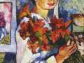 Наталья Гончарова. Автопортрет с желтыми лилиями. 1907. Х., м.