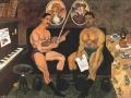 И. Машков. Автопортрет и портрет Петра Кончаловского. 1910. Х., м.