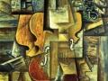 Пабло Пикассо. «Скрипка и виноград». Х.м. 1912