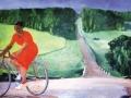 Александр Дейнека. Колхозница на велосипеде. 1935.