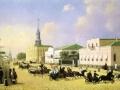 Неизвестный художник. Москва. Выезд пожарной команды. 1840. Х., м