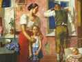 Кузьма Петров-Водкин. Тревога. 1934. Х., м. Фрагмент.