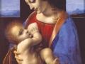 Леонардо да Винчи. Мадонна Литта. 1491