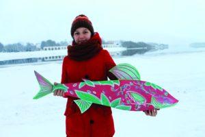 Екатерина Алферова, 13 лет. Хариус