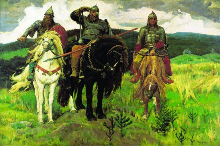 Виктор Васнецов. Богатыри. 1898. Х., м. Государственная Третьяковская галерея