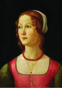 Доменико Гирландайо. Портрет молодой женщины. 1490. Доска, темпера. Музей Калуста Гюльбенкяна. Лиссабон