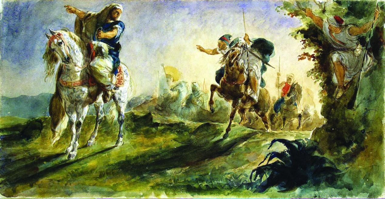 Arabskie-vsadniki-skachut-na-poiski.-1862.-H.-m