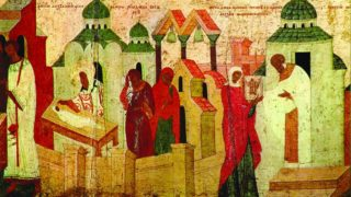 Svyatoj-mitropolit-Aleksij-s-zhitiem.-Fragment-ikony.-1480-e