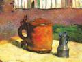 Поль Гоген. Глиняная кружка и стальной кувшин. 1880. Х., м.