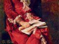 Константин Маковский. Портрет Ю.П. Маковской. 1881. Х., м.