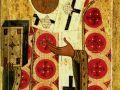 Святитель Петр, митрополит Московский. Икона средины XVII века Великий Новгород. (фрагмент)
