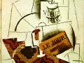 Пабло Пикассо. Бутылка сvieux mark. 1912. Коллаж