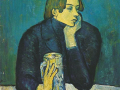 Пабло Пикассо. Портрет Хайме Сабартеса (Кружка пива). 1904. Х., м.