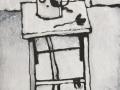 Захаров. Натюрморт на табурете. 1983. Х., м.