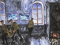 Michail Larionov. Morning in the barracks. Motive from the soldiers life. 1910. Oil on canvas. 86 x 103 cm. The State Tretyakov Gallery