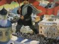 Boris Kustodiev. Bolshevik. 1920. Oil on canvas. 101 x 141 cm. The State Tretyakov Gallery