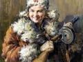 Александр Марышев. Партизанка. 1944. Холст, масло. 81 х 62, 5 см. Тверская областная картинная галерея