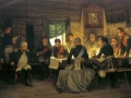 Alexey Kivshenko. Military Council in Fili in 1812. 1880. Oil on canvas. 92 x 164 cm. The State Russian Museum.