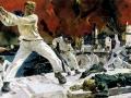 Александр Дейнека. Оборона Севастополя. 1942. Холст, масло. 200 х 400 см. Государственный Русский музей