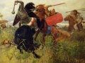 Viktor Vasnetsov. The battle of the Scythians with the Slavs. 1881. Oil on canvas. 161,5 x 295 cm. The State Russian Museum