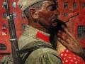 Гелий Коржев. Проводы. 1967. Холст, масло. 174 x 231 см. Государственный Русский музей