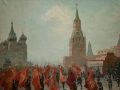 "Vasiliy Pshenichnikov. Victory Parade. 1946. Oil on canvas. 138,5 x 184,2 cm. State Museum Association ""Artistic culture of Russian North"", Arkhangelsk"