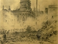 Petr Chernishevskiy. Reichstag attack. 1945. Pencil on paper. 52 x 37 cm. Bryansk oblast museum and exhibitions art center.