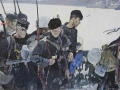 Gleb Savinov. Sailors. 1942. 1964. Oil on canvas. 147,5 x 209 cm. Yaroslavl Art Museum.