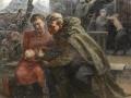 Серафима Рянгина. У эшелона. 1943–1945. Холст, масло. 150 x 138 см. Ярославский художественный музей