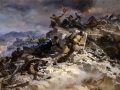 Petr Maltsev. Attack of Sapun Mountain. Oil on canvas. 205 x 370 cm. Central Museum of Military Forces, Moscow