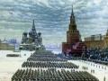 Константин Юон. Парад на Красной площади 7 ноября 1941 года. Холст, масло. 84 x 116. Государственная Третьяковская галерея