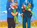Владимир Дубосарский и Александр Виноградов. За отвагу. 2011. Холст, масло. 195 х 145 см. Галерея Триумф, Москва