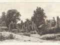 Иван Шишкин. Задворье. 1886. Офорт. 16 × 26,5 см.