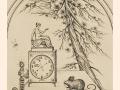 """Демьян Утенков. Лист из серии """"Земля и небо"""". 1980-е. Бумага, офорт, 20 х 13,7 см."""