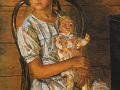 Петров Водкин. «Девочка с куклой». 1937. Х.м.