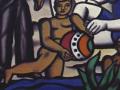 Фернан Леже. «Загородная Прогулка» (фрагмент). 1954. Х.м.