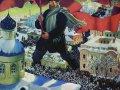 Борис Кустодиев. Большевик. 1920. Холст, масло. 101 х 141 см. ГТГ