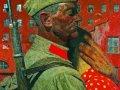 Гелий Коржев. Проводы. Из серии «Опаленные войной». 1967. Холст, масло. 200 х 200 см. ГРМ